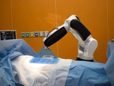 Mỹ dùng robot điều trị cho bệnh nhân nhiễm virus corana. Ảnh: Getty Images.