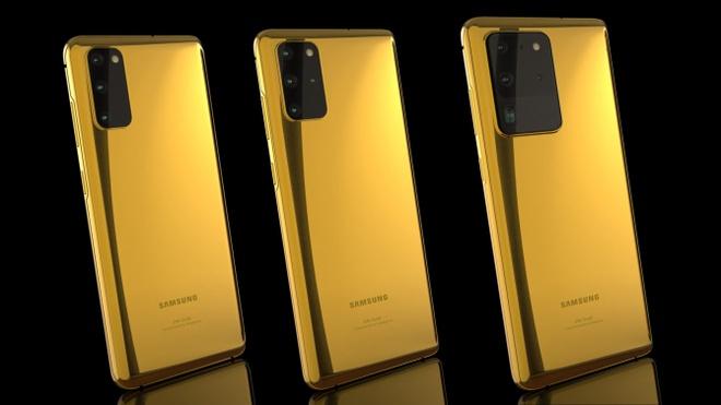 Galaxy S20 ma vang 24K, gia hon 4.000 USD hinh anh 1 Samsung_Galaxy_S20_Series_Gold_Plated_1340x754.jpg
