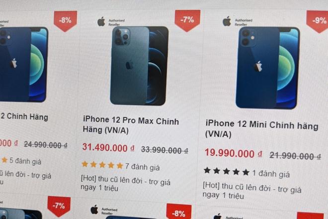 Chua len ke, iPhone 12 da duoc giam gia tai Viet Nam hinh anh