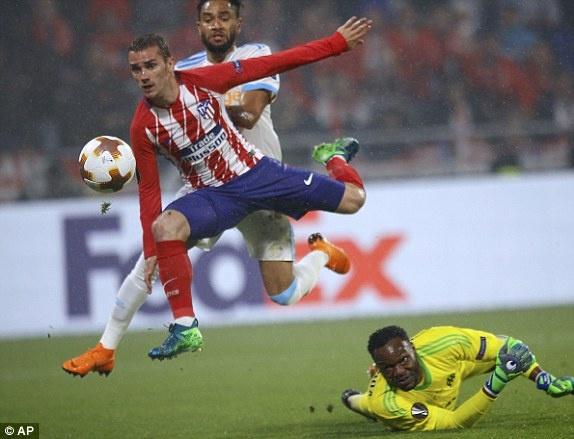 Griezmann lap cu dup giup Atletico Madrid dang quang Europa League hinh anh 1