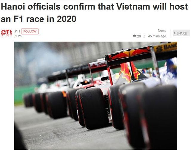 Truyen thong quoc te dua tin Viet Nam chinh thuc to chuc chang dua F1 hinh anh 1