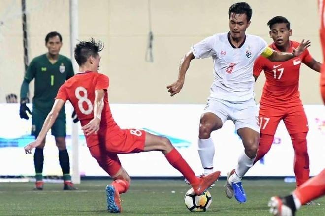 U23 Thai Lan thua Singapore o chung ket Merlion Cup 2019 anh 1