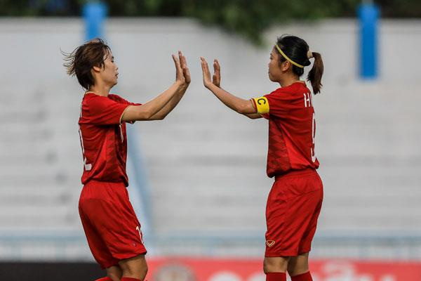 Highlights: DT nu Viet Nam 7-0 Indonesia hinh anh