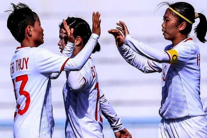 Highlights: Tuyen nu Viet Nam 4-0 Myanmar hinh anh