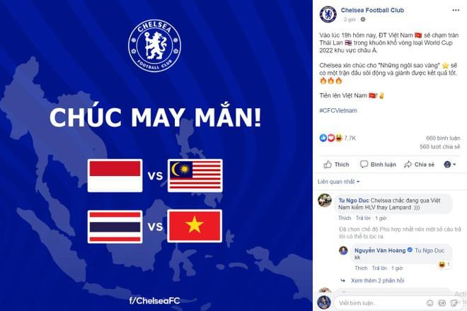CLB Chelsea chuc tuyen Viet Nam chien thang hinh anh 1