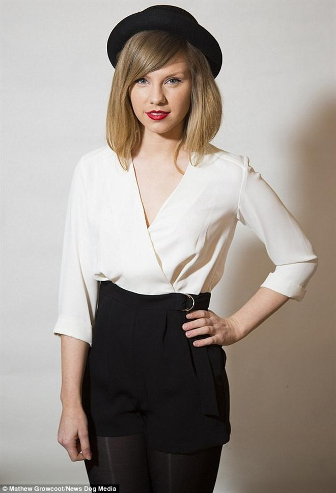 9X kiem bon tien nho co ve ngoai giong het Taylor Swift hinh anh 1