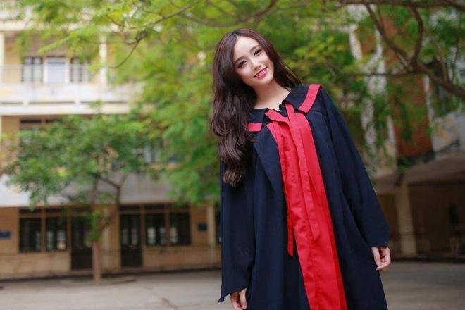 Hot girl da nang nhan bang gioi DH Ngoai thuong hinh anh 1 Ngân Búng tốt nghiệp loại giỏi