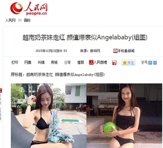 Hot girl Jun Vu: 'Toi khong giong Angelababy' hinh anh 1