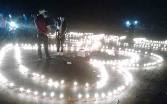 Thap 1.000 ngon nen mung sinh nhat ban gai o Thai Nguyen hinh anh