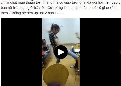 Nu sinh Su pham goi hoi danh ban vi mau thuan tren Facebook hinh anh 1