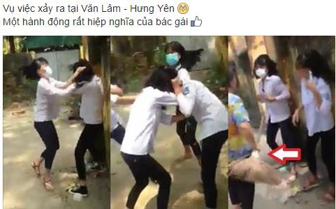 Ba nu sinh Hung Yen chan duong tum toc, danh ban tui bui hinh anh 1