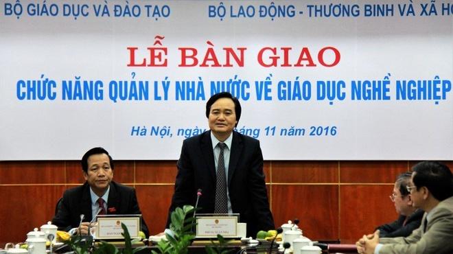 Hon 500 truong CD, TCCN chinh thuc ve Bo Lao dong hinh anh 1