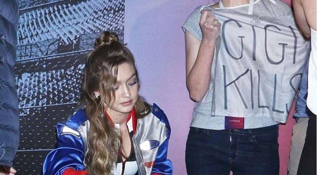Gigi Hadid bi fan gia dang pha roi tai su kien hinh anh