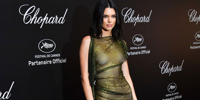 Sieu mau Kendall Jenner bi chi trich vi mac phan cam tai Cannes 2018 hinh anh