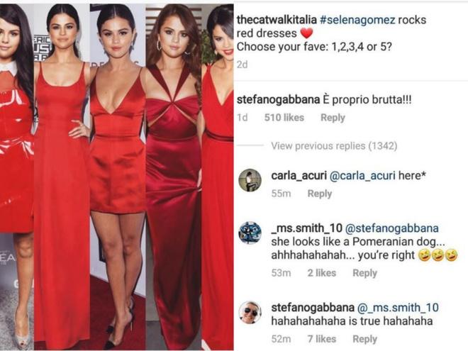 Ong chu Dolce & Gabbana bi chi trich vi che Selena Gomez xau xi hinh anh 1