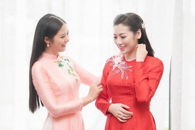 Hoa hau Ngoc Han tu may ao dai cuoi tang A hau Tu Anh hinh anh
