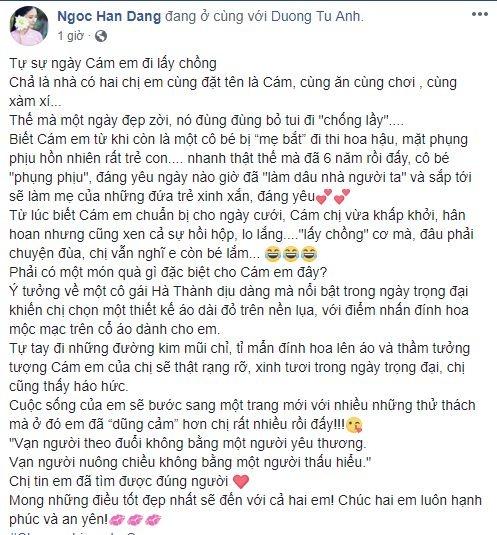 Hoa hau Ngoc Han tu may ao dai cuoi tang A hau Tu Anh hinh anh 1