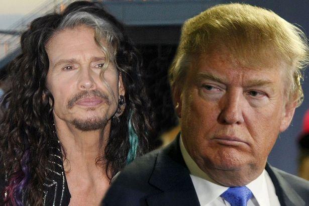 Donald Trump bi huyen thoai Steven Tyler kien su dung nhac trai phep hinh anh