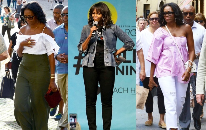 Michelle Obama mac tre trung sau khi roi Nha Trang hinh anh