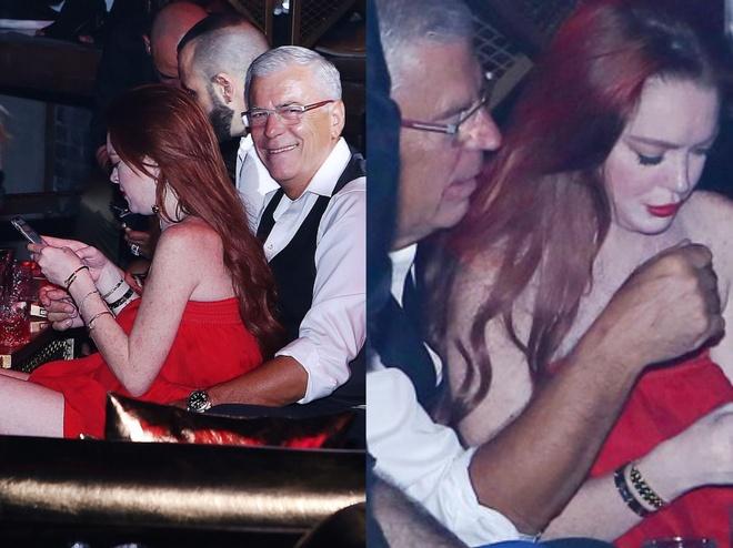 Lindsay Lohan tinh tu ben nguoi dan ong lon tuoi trong hop dem hinh anh 2