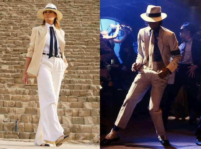 Melania Trump thay doi phong cach, duoc so sanh voi Michael Jackson hinh anh 1