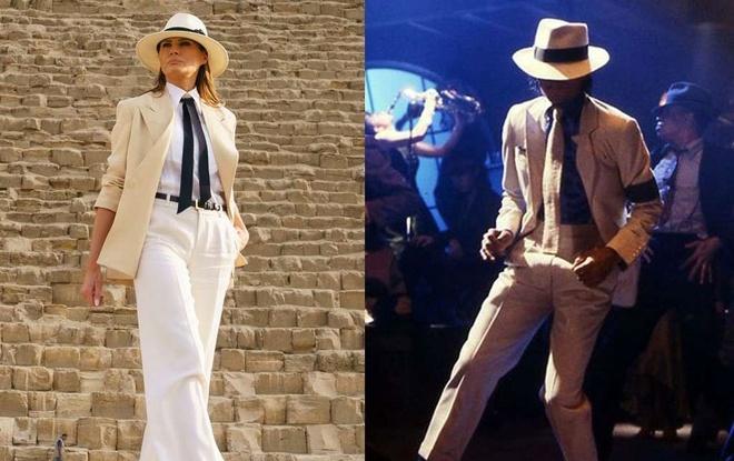 Melania Trump thay doi phong cach, duoc so sanh voi Michael Jackson hinh anh