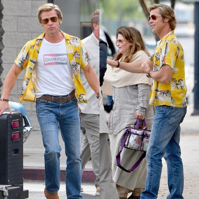 Brad Pitt mac ao sac so, vui ve tren phim truong bom tan moi hinh anh 6