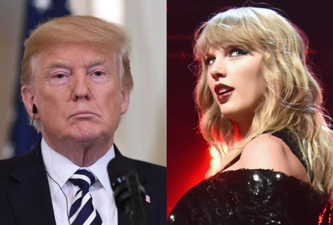 Tong thong Donald Trump kho chiu vi Taylor Swift ung ho dang Dan chu hinh anh