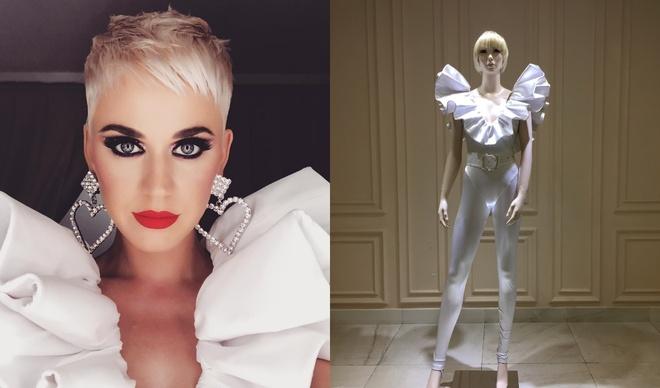 Katy Perry dien trang phuc cua nha thiet ke Nguyen Cong Tri hinh anh