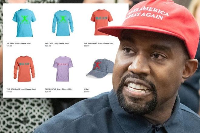 Kanye West ra mat ao thun ngam ung ho Donald Trump? hinh anh