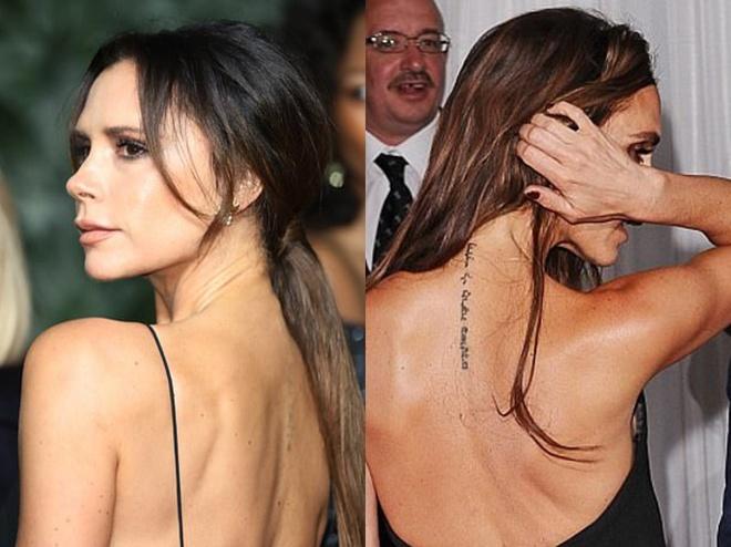 Victoria Beckham xoa hinh xam danh cho chong, du bao hon nhan ran nut? hinh anh 1