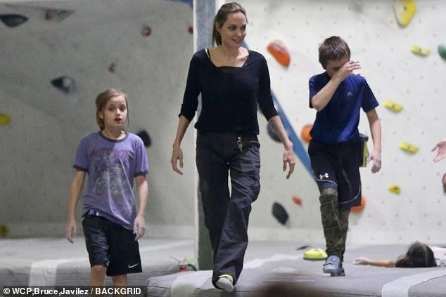 Angelina Jolie dua cac con di choi giua tin Brad Pitt co tinh moi hinh anh 1