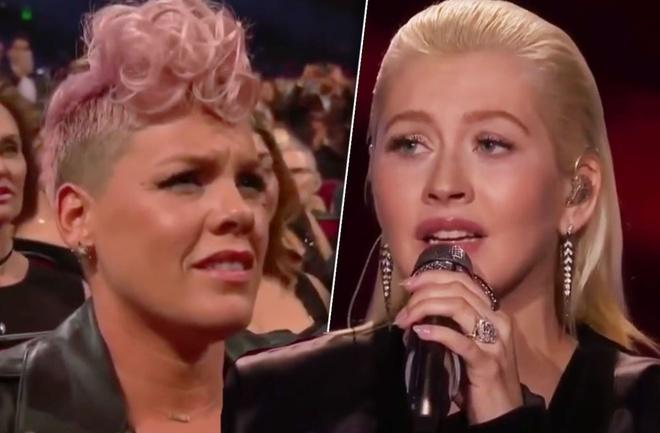 Christina Aguilera phu nhan tung dam vao mat 'ke thu' Pink hinh anh 2