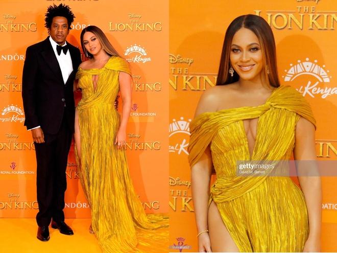 Beyonce dien vay xe tao bao cua Cong Tri tren tham do 'The Lion King' hinh anh 1