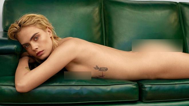 Sieu mau Cara Delevingne nude hoan toan tren tap chi hinh anh 1