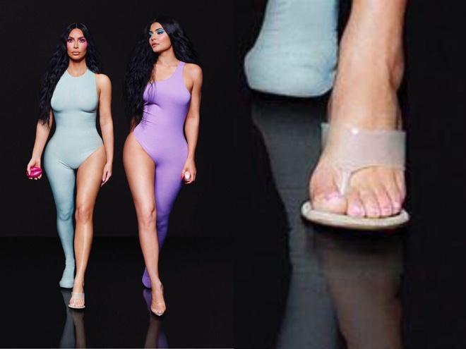 Kim Kardashian bi photoshop loi, xuat hien 6 ngon chan hinh anh 1