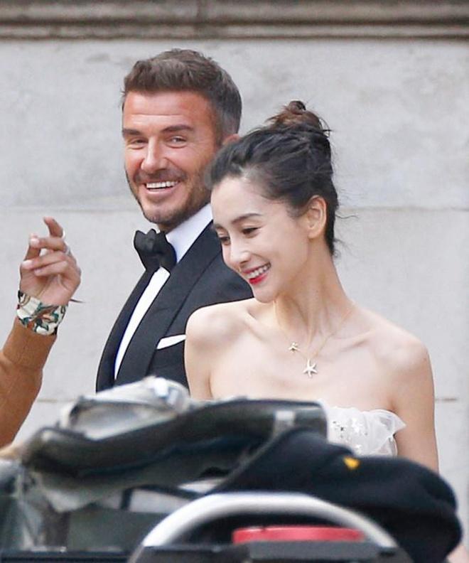 David Beckham va Angelababy cuoi tuoi khi quay quang cao tren pho hinh anh 2