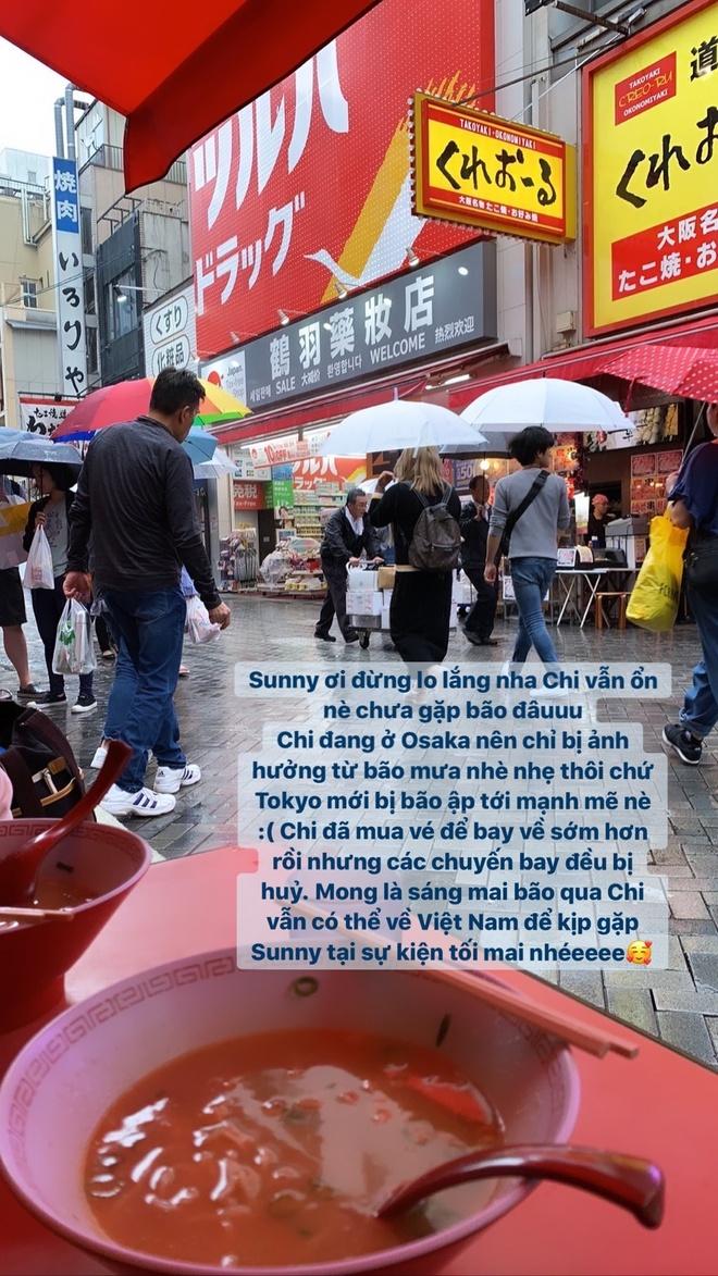 Chi Pu dang o Nhat Ban giua sieu bao Hagibis hinh anh 1