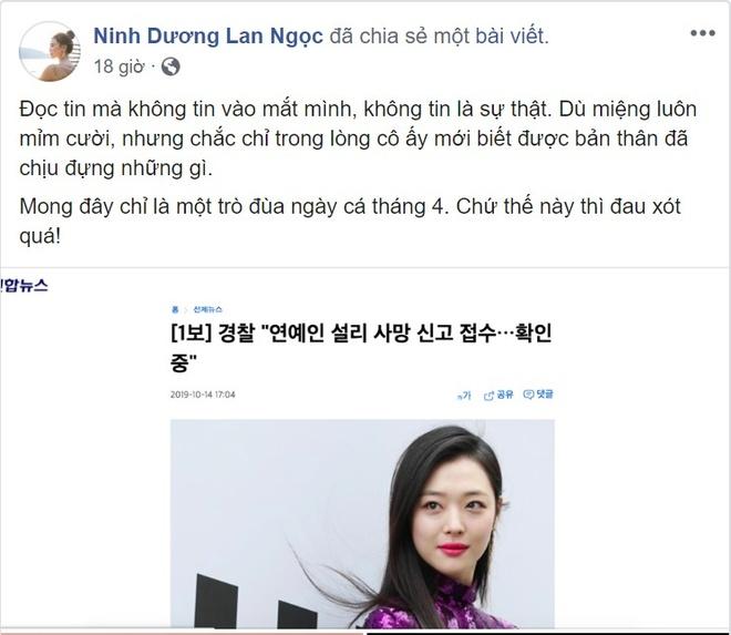 Ho Ngoc Ha, Bao Anh chia se noi buon truoc cai chet cua Sulli hinh anh 11