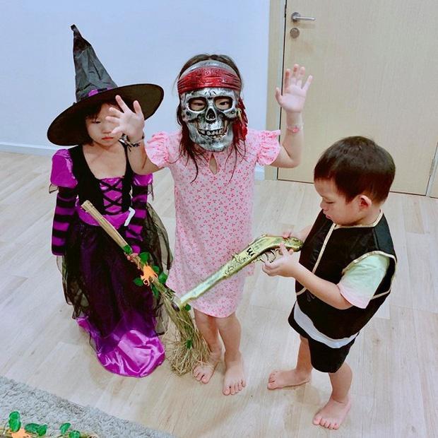 Ha Tang, vo Tuan Hung va dan sao Viet hoa trang Halloween hinh anh 8