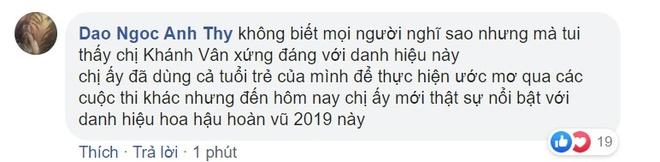 Khanh Van gay tranh cai khi la tan Hoa hau Hoan vu Viet Nam hinh anh 3