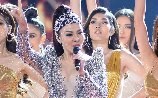Thu Minh hat 'I Am Diva' o chung ket Hoa hau Hoan vu Viet Nam 2019 hinh anh