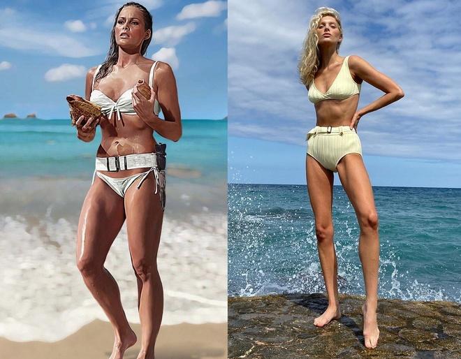 Alessandra Ambrosio mac bikini giong bond girl anh 2