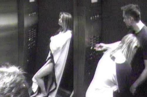 Hình ảnh của Amber Heard và Elon Musk ở thang máy khi cô vẫn còn là vợ tài tử Depp.