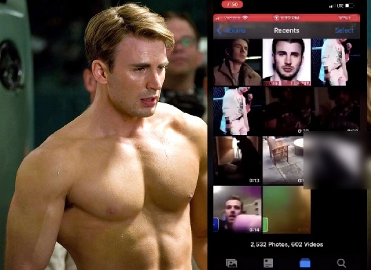 Chris Evans lo anh nhay cam anh 1