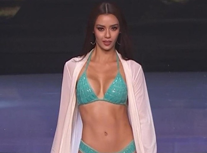 Khanh Van chung ket Hoa hau Hoan vu Miss Universe anh 3