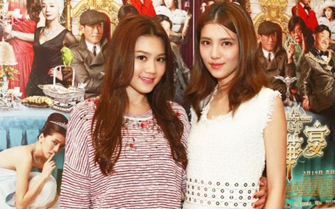 Nữ diễn viên Châu Tú Na (trái) và Ngô Thiên Ngữ (phải). Ảnh: On.cc.