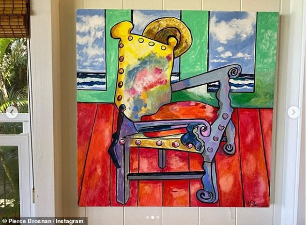 Pierce Brosnan ve tranh tang vo nhan ngay sinh nhat anh 2