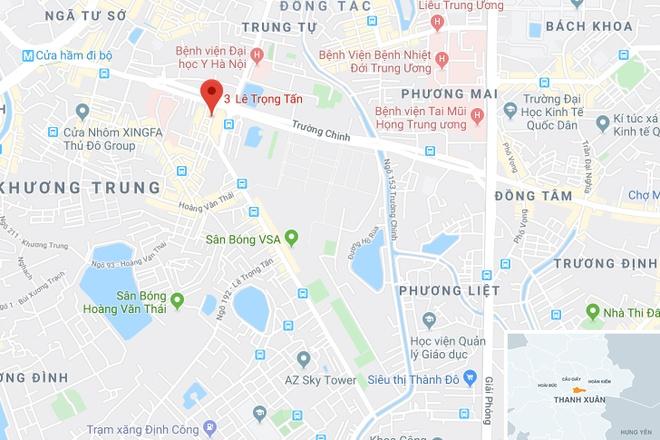 Nguoi phu nu bi bao ve danh: 'Toi bi dam guc tai cho' hinh anh 3 map_thanhxuan_abc.jpg