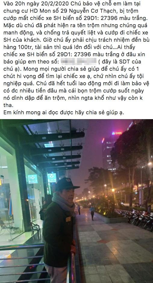 Ong lao bao ve bat luc nhin trom lay chiec SH hinh anh 2 Screen_Shot_2020_02_24_at_9.23.29_PM.jpg